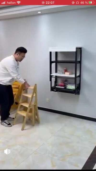The way he changes from a one type of furniture to another is so smooth (cross post from r/nextlevel)
