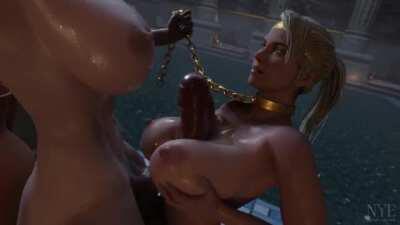 Sonya giving a futa tittyfuck