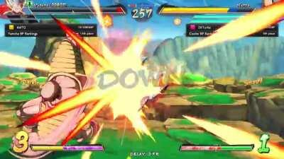 God Nappa bends the laws of physics to suit his whims