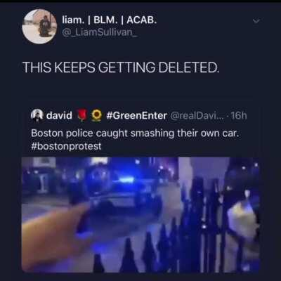 Cops caught breaking their own car 😂😂😂😂😂 PATHETIC