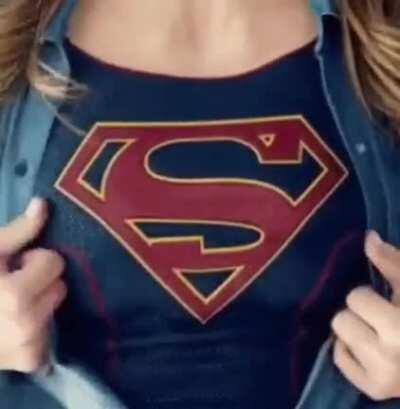 Supergirl Shirt Rip