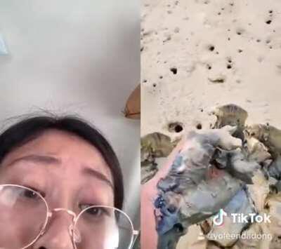 Leenda Dong discovers a mudfish