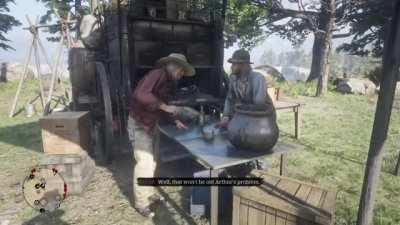 Sean defends Arthur (Rare dialogue)