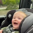 My child reacting to going through a tunnel for the first time