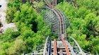 Up and Over Abandoned Rollercoaster Jazzland Six Flags