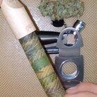 """Preparing a cannabis leaf """"cannagar"""" for a sesh"""