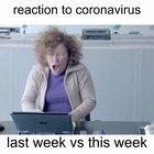 Reaction to Coronavirus.... last week vs this week