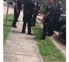 Wholesome female welcomes the cops in her neighborhood