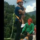 bungee jumping with a child