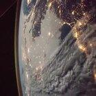 A flyby of earth from the international space station