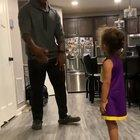 Trying to teach the daughter a fun dance