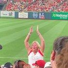 Let's Go Cards! Let's Go Ca.......😞 Poor drunk lady tried for 2 innings to get people to join in.