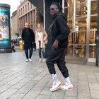 This man moonwalking with Jordan 3s on concrete