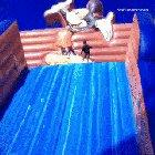 HMJB as I go down this bouncy slide!