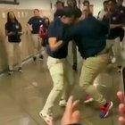 """Being the fine cultured people we are on this sub, please enjoy this man breakdancing while they fight in the background set to """"what a wonderful world"""""""