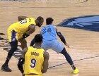 Lebron gets assaulted on live TV.