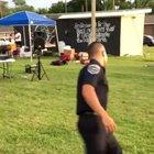 police officer with dance skills