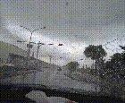 Tornado touching down in traffic