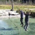 WCGW if I balance on a rope above water with someone...