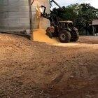 Grain bin develops a hole then collapses - 1/8/20