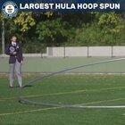 Of course there's a Guinness World Record for largest hula-hoop spin.