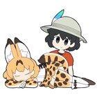 Kaban Pets Her Sleeping Serval!