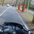 Biker making this lady's day
