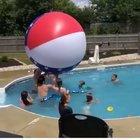 Beach ball vs kid
