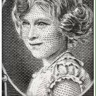 How the queen's face changed on banknotes throughout the years