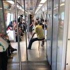 Don't need a gym to work out. Inside MRT also can.