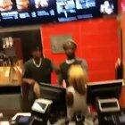 Customer goes behind the counter at McDonald's and employees are not happy