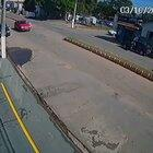 Triumph Tiger 800 completely destroys the front of the car in an accident