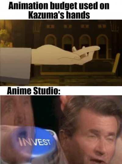 konosuba's animation quality goes brr