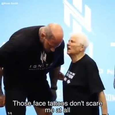 Grandma's not scared at all!