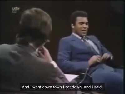 Muhammad Ali shares a story of him going to a diner after winning the Olmypic Gold Medal