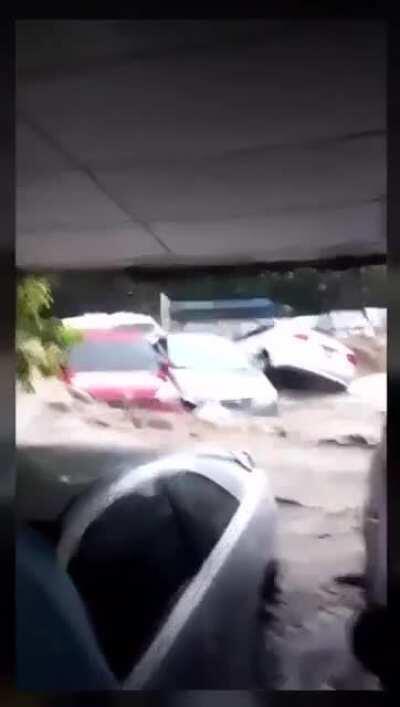 Flooding due to Tropical storm Amanda in El Salvador, 5/31/20