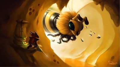 Queen Bee Bossfight animated Wallpaper
