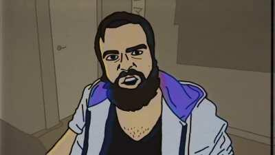 You Disingenuous Dense Motherfucker but it's animated in Joel Haver style