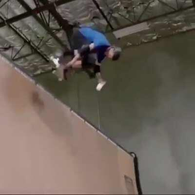 Tony Hawk does a 540 while holding a glass of milk, and doesn't spill it