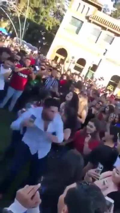 This dude broke up a fight by dancing