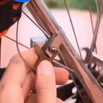Chinese red neck bicycle