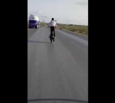 WCGW doing bike tricks