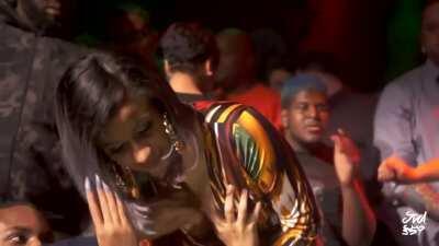 Cardi B lets fans grope her