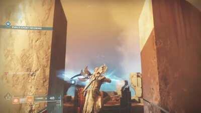 Warlocks can avoid the public event on Mercury for Savathuns Eyes (I apologize if this is known already)