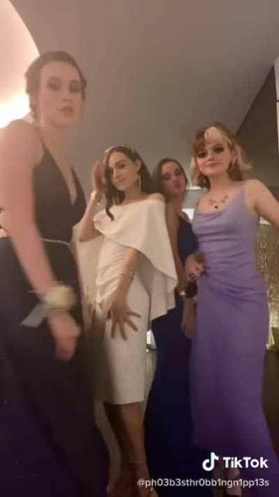 I (Trans girl in the white) had the most amazing formal (prom) with my girls, and made transphobes angry by existing ✌🏻 and I just started E two days ago!