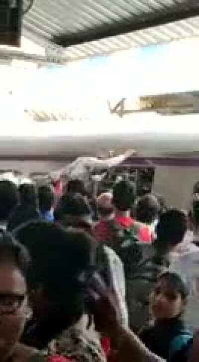 WCGW if I stand in front of people leaving the train