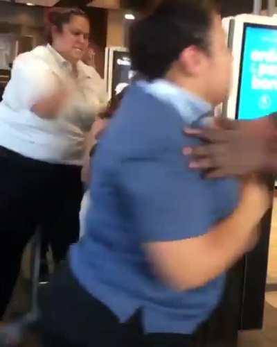 Maccas fight