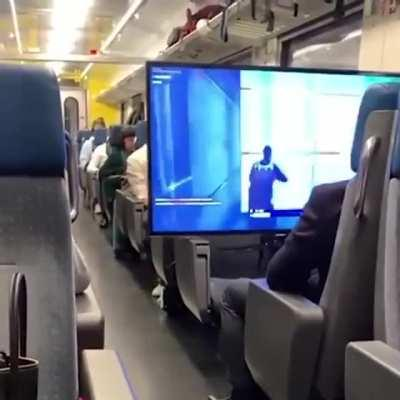 Meanwhile in 2nd class train in Switzerland