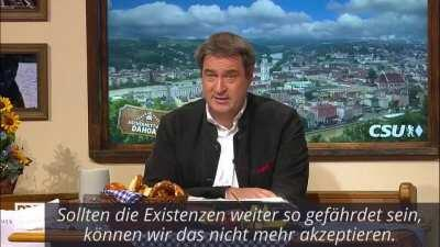Markus Söder beschuldigt die Bundesregierung und die EU.
