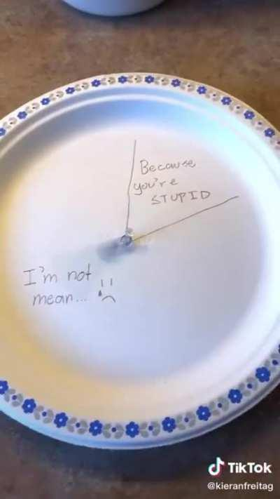 Careful with those paper plates!